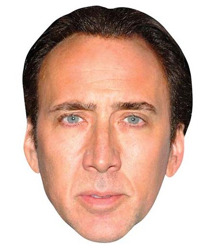 A Cardboard Celebrity Big Head of Nicolas Cage