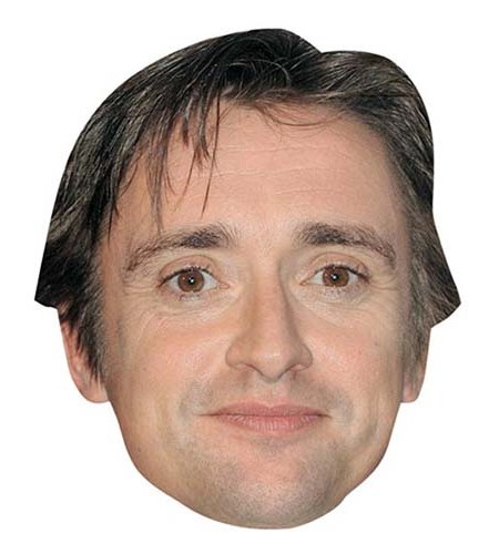 A Cardboard Celebrity Mask of Richard Hammond