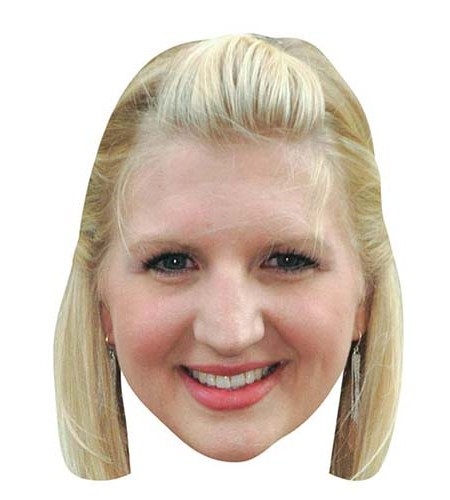 A Cardboard Celebrity Big Head of Rebecca Adlington