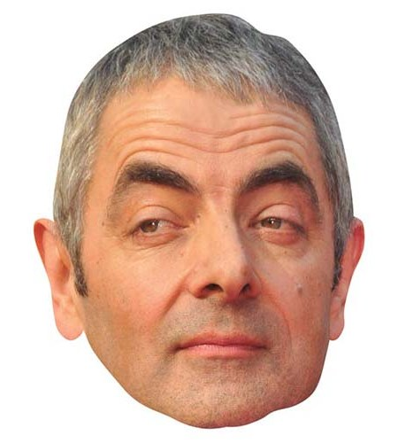 A Cardboard Celebrity Big Head of Rowan Atkinson