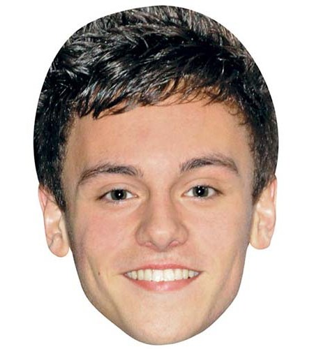 A Cardboard Celebrity Big Head of Tom Daley