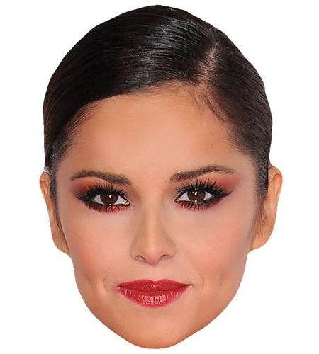 A Cardboard Celebrity Mask of Cheryl Cole