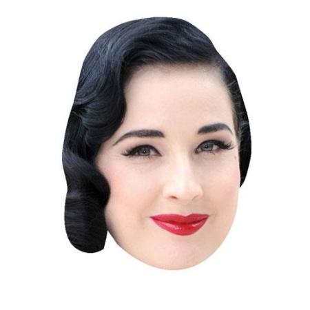 A Cardboard Celebrity Big Head of Dita Von Teese