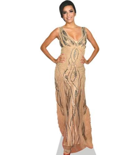 A Lifesize Cardboard Cutout of Eva Longoria wearing a long dress