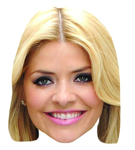 A Cardboard Celebrity Holly Willoughby Mask