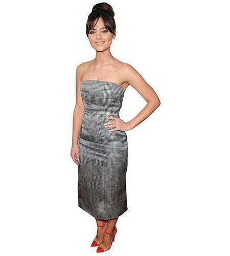 A Lifesize Cardboard Cutout of Jenna Coleman wearing a silver dress