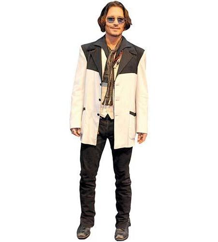 Johnny Depp (White Jacket) Cardboard Cutout