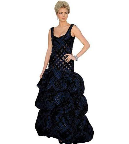A Lifesize Cardboard Cutout of Kate Upton wearing a ball gown