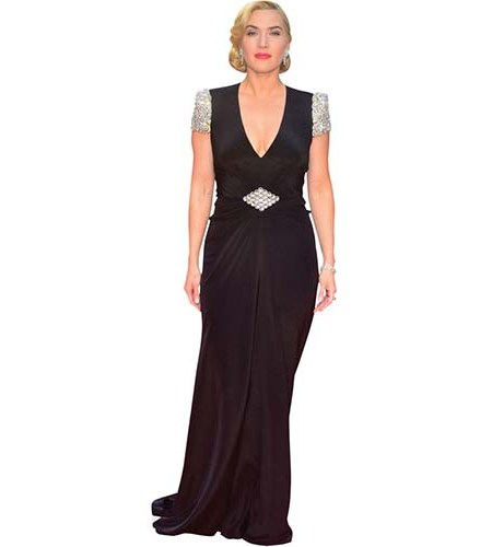 A Lifesize Cardboard Cutout of Kate Winslet wearing a full length dress