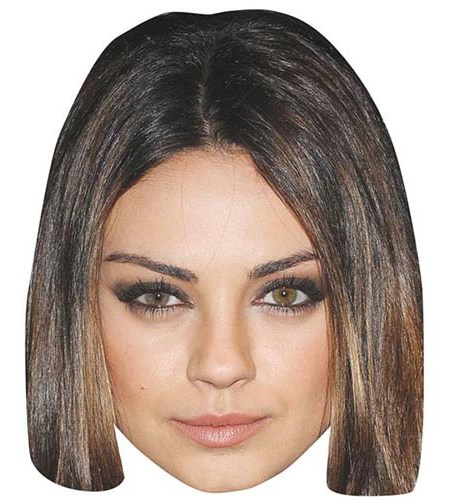 A Cardboard Celebrity Mask of Mila Kunis