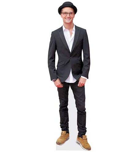 A Lifesize Cardboard Cutout of Ollie Proudlock wearing a trilby