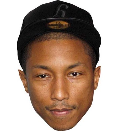 A Cardboard Celebrity Big Head of Pharrell Williams