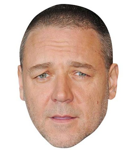 A Cardboard Celebrity Big Head of Russell Crowe