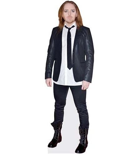 A Lifesize Cardboard Cutout of Tim Minchin wearing a tie