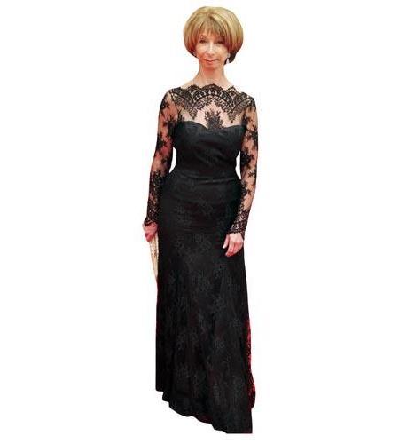 A Lifesize Cardboard Cutout of Helen Worth wearing a ballgown