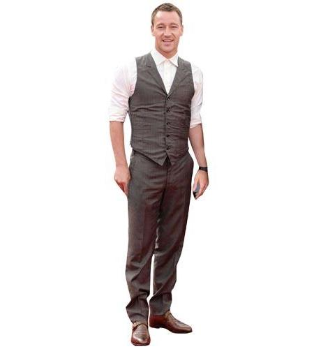 A Lifesize Cardboard Cutout of John Terry wearing a waistcoat