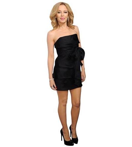 A Lifesize Cardboard Cutout of Kylie Minogue wearing a black dress