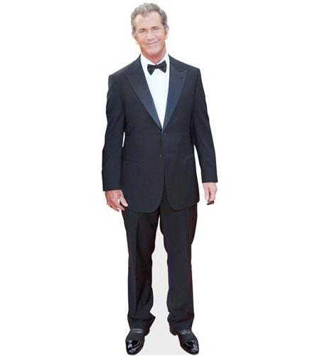 A Lifesize Cardboard Cutout of Mel Gibson dressed for dinner