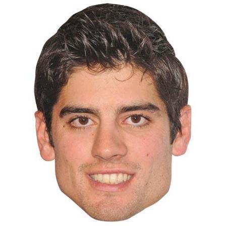 A Cardboard Celebrity Big Head of Alastair Cook