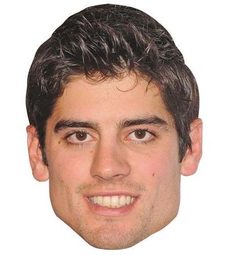 A Cardboard Celebrity Mask of Alastair Cook
