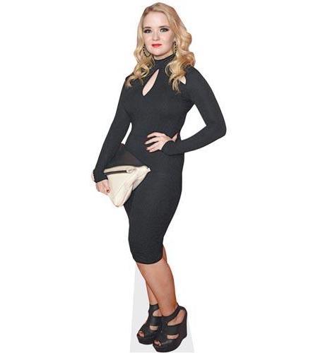 A Lifesize Cardboard Cutout of Lorna Fitzgerald wearing black