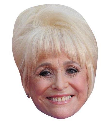 A Cardboard Celebrity Mask of Barbara Windsor