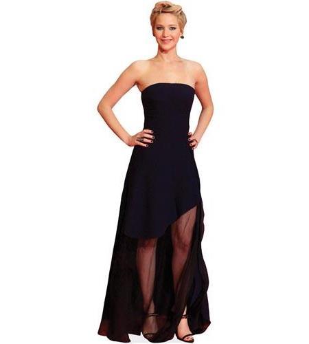 A Lifesize Cardboard Cutout of Jennifer Lawrence wearing black