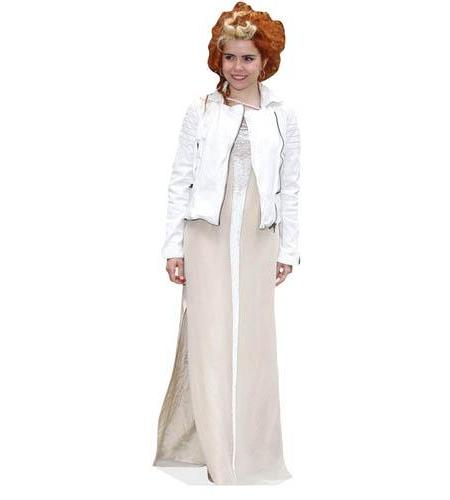 A Lifesize Cardboard Cutout of Paloma Faith wearing white