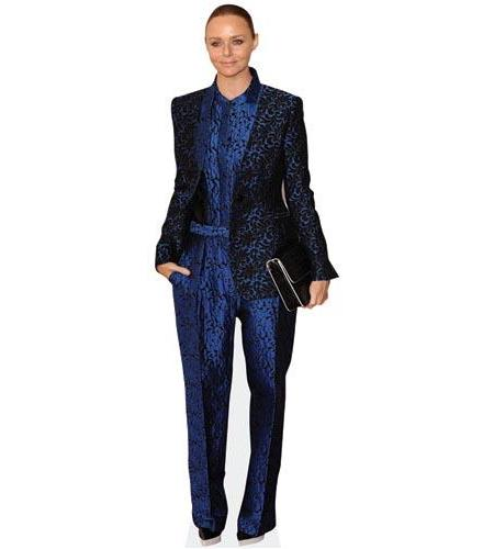 A Lifesize Cardboard Cutout of Stella McCartney wearing a jumpsuit