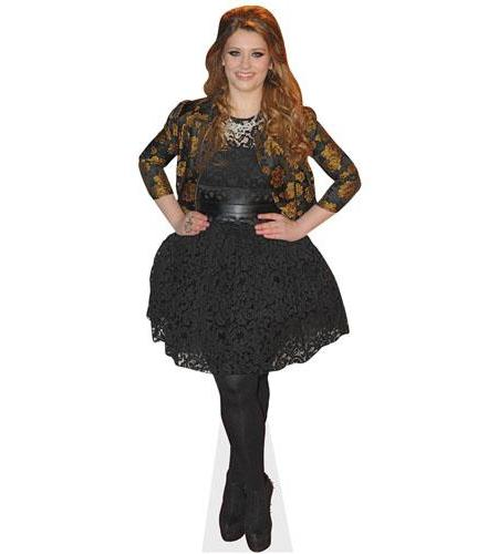 A Lifesize Cardboard Cutout of Ella Henderson wearing a dress