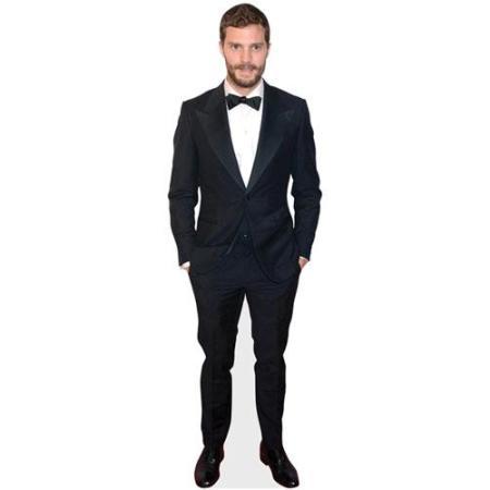 A Lifesize Cardboard Cutout of Jamie Dornan wearing a suit