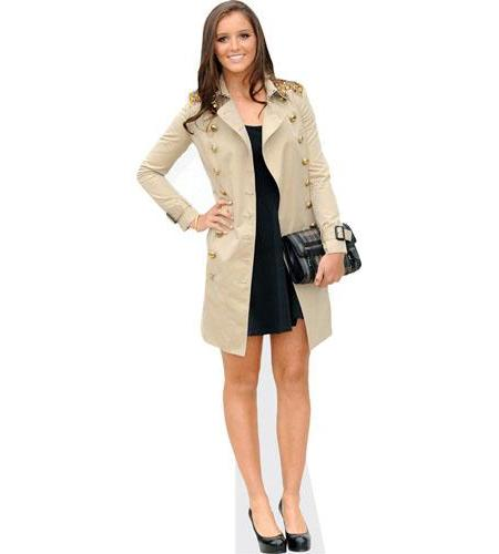 A cardboard cutout of Laura Robson wearing a coat