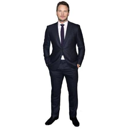 Cardboard Cutout of Chris Pratt wearing a suit