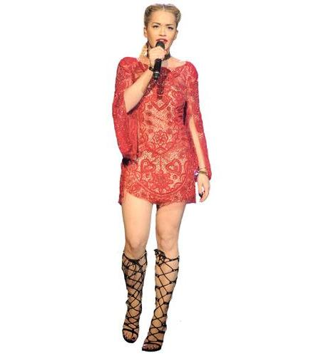 Rita Ora Singing Cardboard Cutout