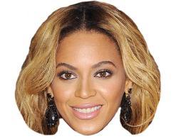 A Cardboard Celebrity Mask of Beyonce