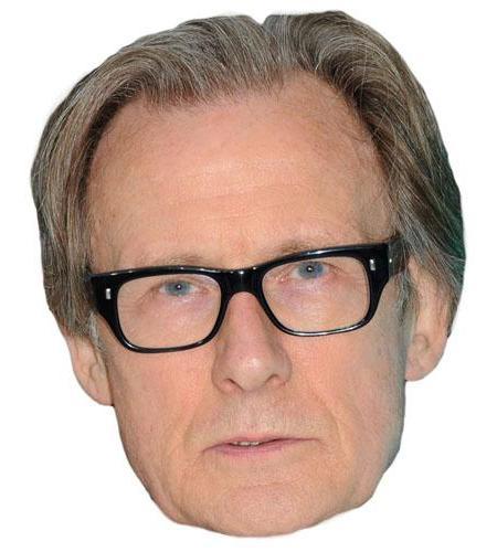 A Cardboard Celebrity Big Head of Bill Nighy