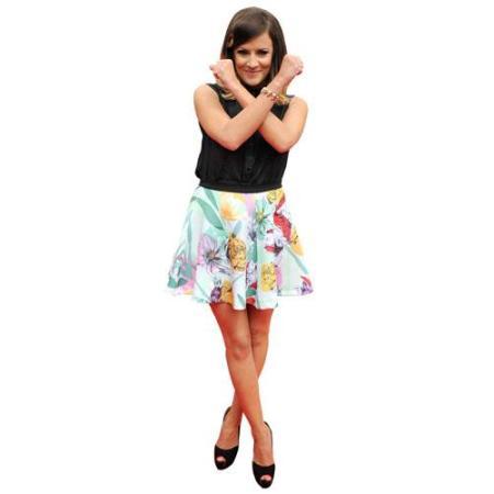 A Lifesize Cardboard Cutout of Caroline Flack striking a pose