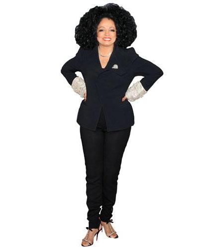 A Lifesize Cardboard Cutout of Diana Ross wearing a suit