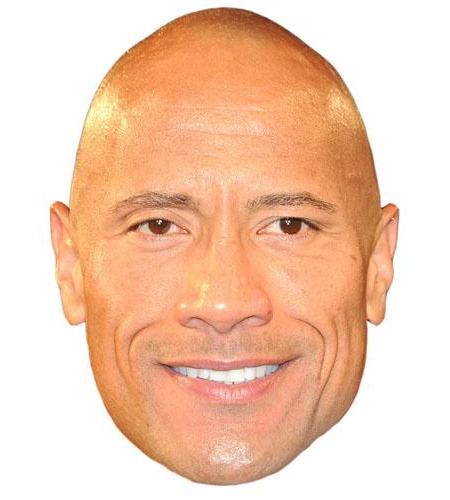 A Cardboard Celebrity Big Head of Dwayne Johnson