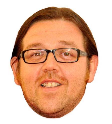 A Cardboard CelebrityNick Frost Glasses Big Head