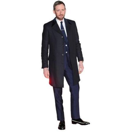 A Lifesize Cardboard Cutout of Bradley Wiggins wearing a suit