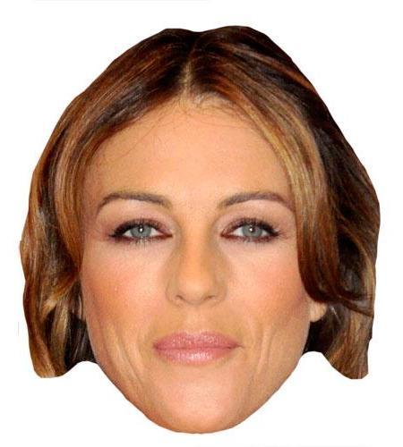 A Cardboard Celebrity Elizabeth Hurley Mask