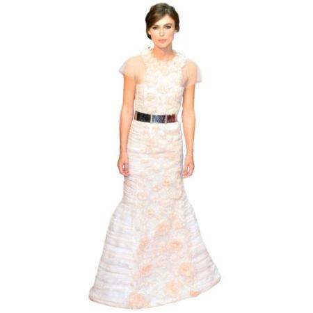 A Lifesize Cardboard Cutout of Keira Knightly wearing a gown