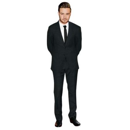 A Lifesize Cardboard Cutout of Liam Payne wearing a suit