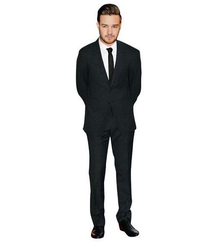 A Lifesize Cardboard Cutout of Liam Payne wearing a suit