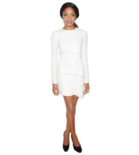 A Lifesize Cardboard Cutout of Naomie Harris wearing white