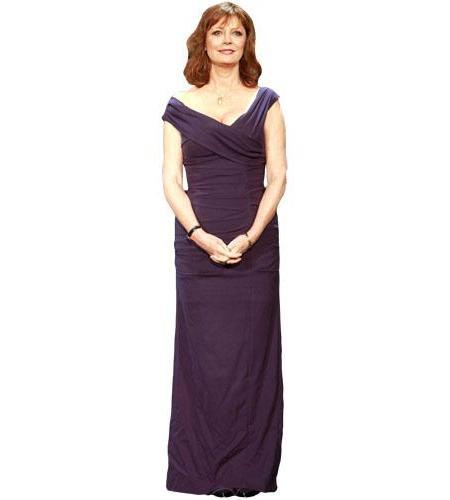 A Lifesize Cardboard Cutout of Susan Sarandon wearing a gown