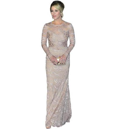 A Lifesize Cardboard Cutout of Christina Applegate wearing a gown