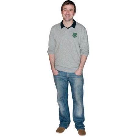 A Lifesize Cardboard Cutout of Graham Hawley wearing jeans