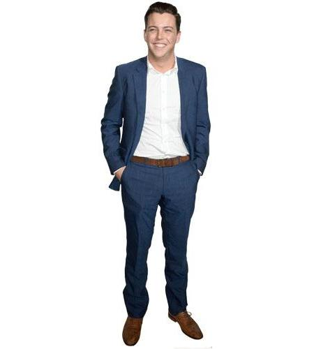 A Lifesize Cardboard Cutout of James Bennewith wearing a suit